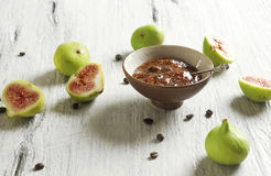 Fig and coffee marmalade Royalty Free Stock Photo