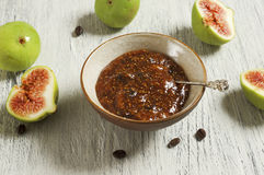 Fig and coffee marmalade Stock Photos