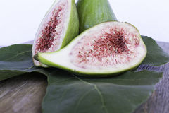 Fig cut details leaf Stock Photos