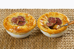 Fig dessert. For two persons stock photography