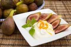 Fig dessert Stock Image
