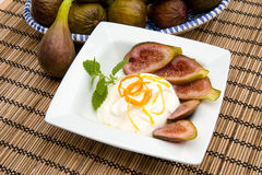 Fig dessert Royalty Free Stock Photos