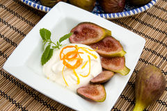 Fig dessert Royalty Free Stock Images