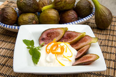 Fig dessert Royalty Free Stock Photography