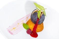 Fig dessert Stock Images