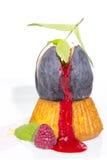 Fig dessert Royalty Free Stock Photo
