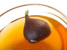 Fig. en honing stock afbeelding
