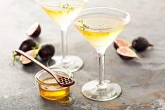 Fig. en honing martini stock fotografie
