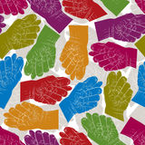 Fig fico hands seamless pattern, vector background for wallpaper Stock Images