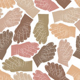 Fig fico hands seamless pattern, vector background for wallpaper Stock Image