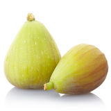 Fig fruit. Figs isolated on white, clipping path included Stock Photo