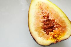 Fig fruit cut in half Royalty Free Stock Image