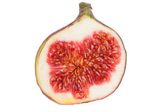Fig Fruit one half Royalty Free Stock Photos