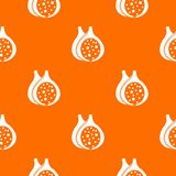 Fig fruit pattern seamless. Fig fruit pattern repeat seamless in orange color for any design. Vector geometric illustration Royalty Free Stock Photos