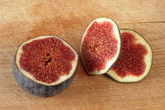 Fig fruit on plank Royalty Free Stock Photo