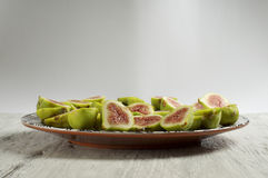 Fig fruit plate Stock Image