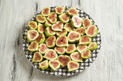 Fig fruit plate Royalty Free Stock Image