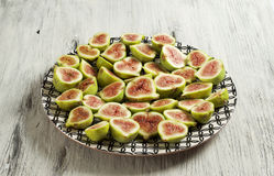 Fig fruit plate Royalty Free Stock Photo