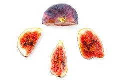 Fig fruit and slices Stock Photo