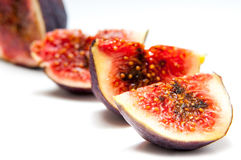 Fig fruit slices Royalty Free Stock Images