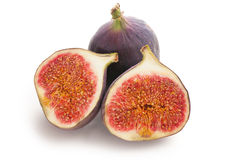 Fig fruit on white background Stock Photos