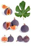 Fig fruits set Stock Photos