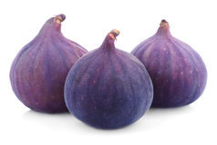 Fig fruits on white Stock Photos