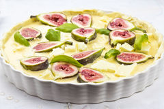 Fig goats cheese tart Stock Images