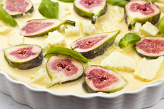 Fig goats cheese tart Stock Photos