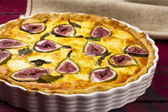 Fig goats cheese tart Royalty Free Stock Photos