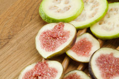 Fig and guava fruits Stock Images
