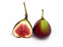 Fig Halves Royalty Free Stock Photography