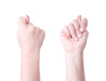 Fig hand sign. Isolated on white background stock photos