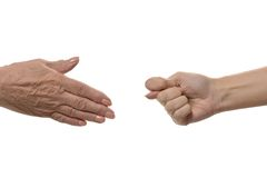 Fig hand sign isolated Royalty Free Stock Photography