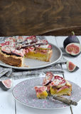 Fig homemade tart Royalty Free Stock Images