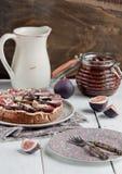 Fig homemade tart Stock Photos