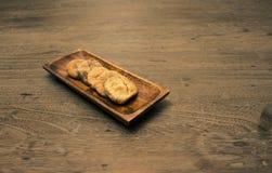 Fig. in houten schotel Royalty-vrije Stock Fotografie