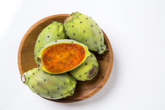 Fig of India. On white background Royalty Free Stock Photos