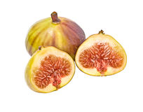 Fig and its section Royalty Free Stock Image