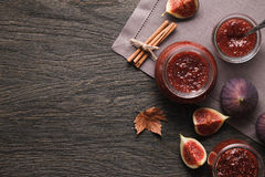 Fig jam background Royalty Free Stock Images