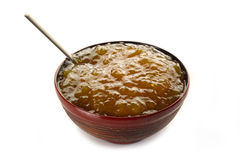 Fig jam on bowl Stock Photography