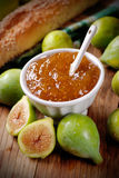 Fig jam in the bowl Stock Photography