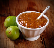 Fig jam in the bowl Stock Image