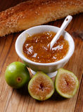 Fig jam in the bowl Royalty Free Stock Images