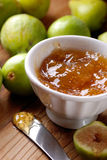 Fig jam in the bowl Royalty Free Stock Photo