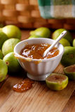 Fig jam in the bowl Stock Images
