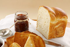 Fig Jam And Bread Stock Image