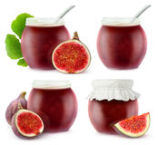 fig jam collection Royalty Free Stock Photo