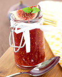 Fig jam in a glass Stock Photo