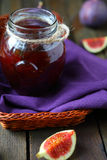 Fig jam in a jar Stock Photography